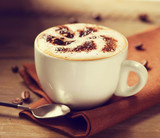 Cappuccino. Cup of Cappuccino or Latte Coffee