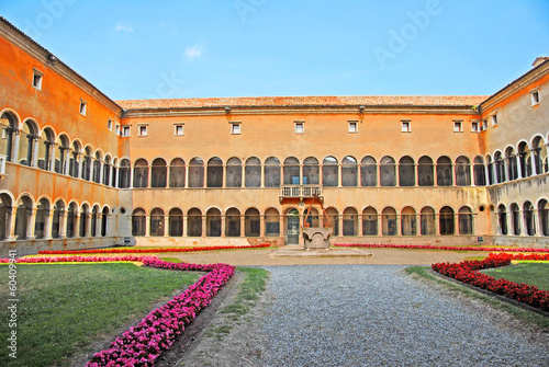 Ravenna, Italy:  The antique Loggetta Lombardesca courtyard.