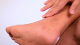 Massage sprained ankle