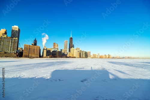 Skyline and Frozen Lake