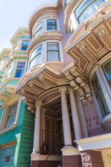 San Francisco Victorian houses near Alamo Square California