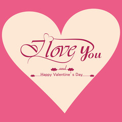 Beautiful background for valentine's day card vector design