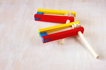 noisemaker or gragger for purim celebration holiday