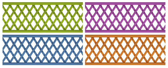 Colorful wooden fences