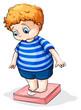 A fat Caucasian boy