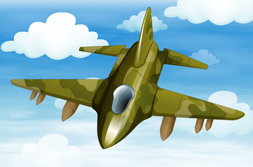 A military fighter jet