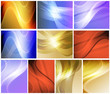Set of abstract wavy backgrounds