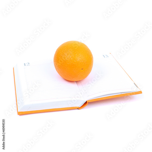 Orange on the diary