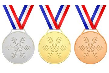 Médailles françaises pour les jeux d'hiver
