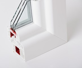 Plastic window profile