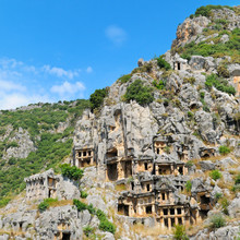 lycian tombs in Demre (Myra), Turkey