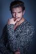 pensive beauty male model
