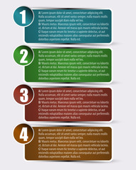 One, two, three, four - vector inforgraphic with text