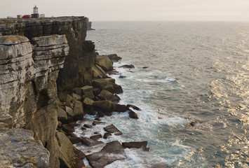 Cliffs of the peninsula of Peniche