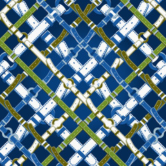Seamless  Pattern in Nautical Style With Belts.