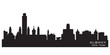 Albany New York city skyline vector silhouette