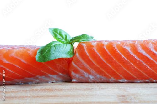 Salmon with basil