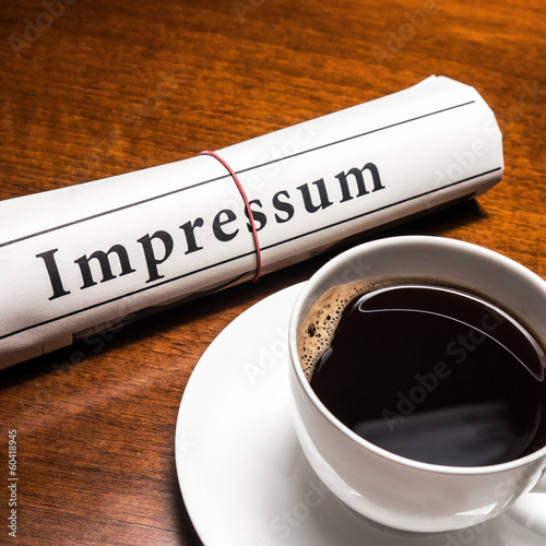 impressum newspaper (german)