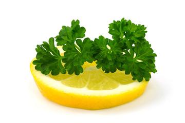 Petersilie auf Zitrone