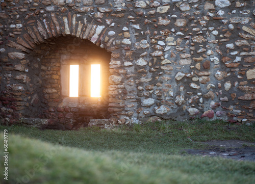 window in old ruin