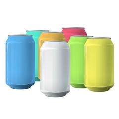 Colorful tins.