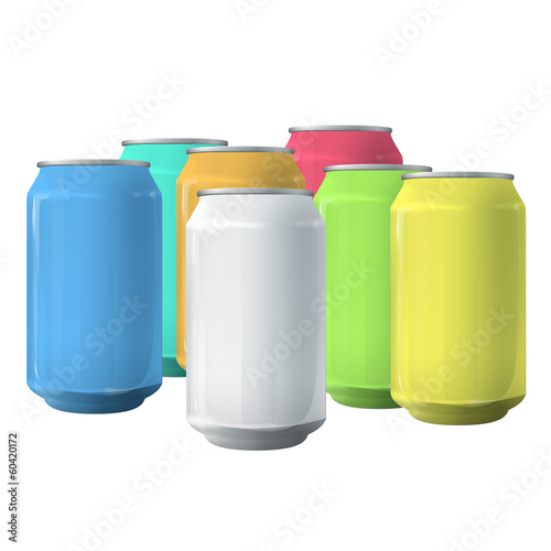 Colorful tins.