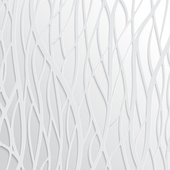 Abstract White Wavy Background