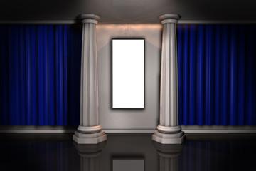 Galerie Bild Säule Vorhang