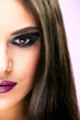 Extreme makeup. Beautiful half face