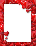 Valentine's day background frame with hearts