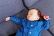 Asian baby sleeping