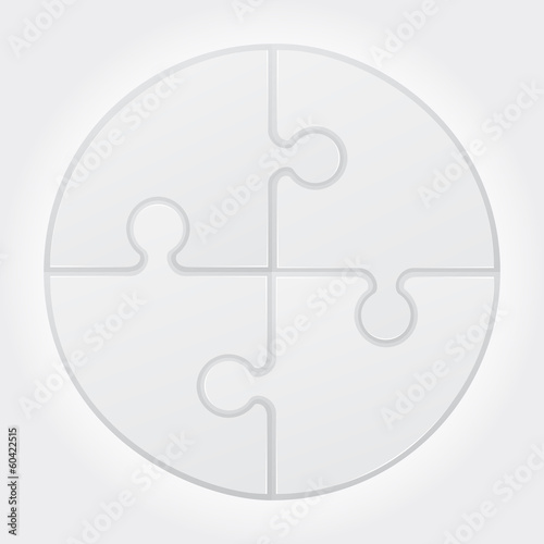 round puzzle vector illustration