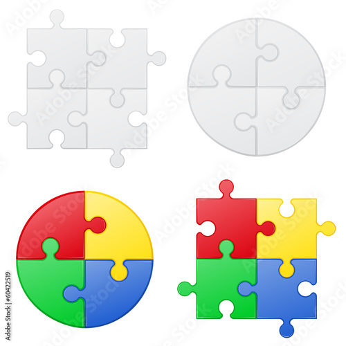 puzzle set icons vector illustration