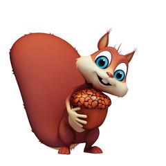 Squirrel white nut