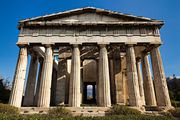Hephaestus ancient temple, Athens, Greece