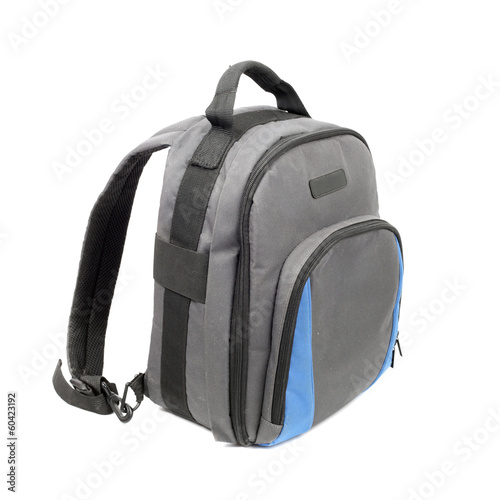 Blue and grey rucksack