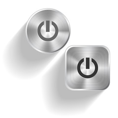 Switch element. Vector set steel buttons