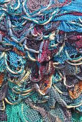 Kleurijke visnetten