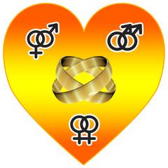 Universal Love, sign for tolerance