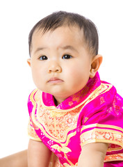 Baby girl with chinese style dressing