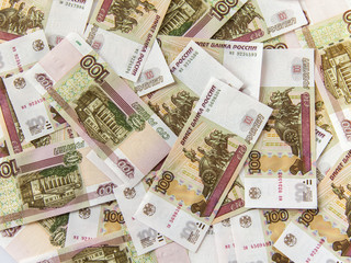 Background of Russian banknotes
