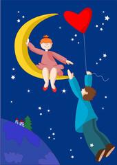 fidanzatini sulla luna