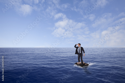 Businessman lost at sea