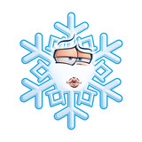 SnowFlake Emoticon - Smooch