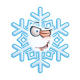 SnowFlake Emoticon - Wink