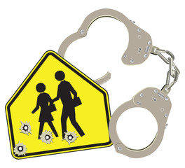 Handcuffs and school
