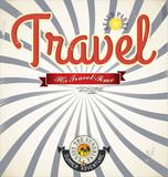 Vintage Travel background poster