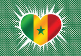 Senegal waving flag