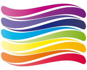 Welle in acht Farben - leuchtend - Logo
