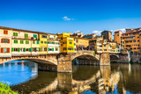 Ponte Vecchio with river Arno at sunset in Florence, Italy - 60428571